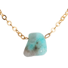 Amazonite Drop Necklace