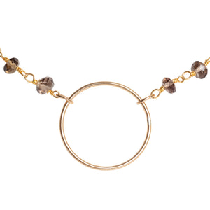 Circle Beaded Necklace
