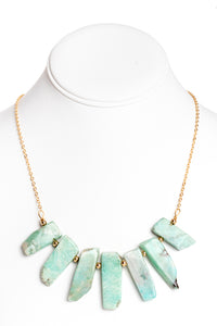 Amazonite Aztec Necklace