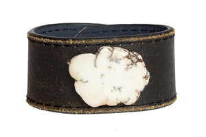 White Turquoise Leather Bracelet