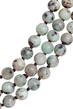 Green Dalmatian Beaded Necklace