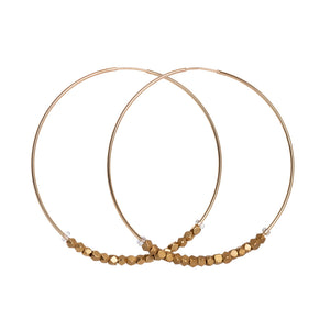 Gold African Beaded Hoops