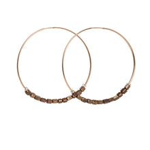 Brown African Beaded Hoops