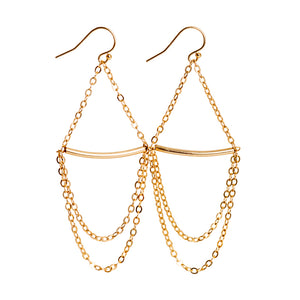 Chain Teardrop Earrings