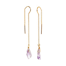Amethyst Thread Earrings
