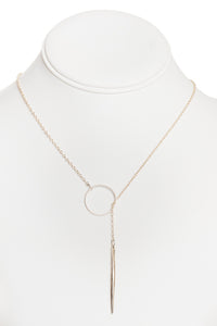 Circle Lariat Necklace