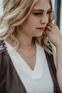 Gold Fill Gypsy Necklace