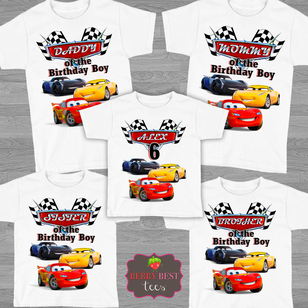 Cars 3 Personalized Birthday Shirt