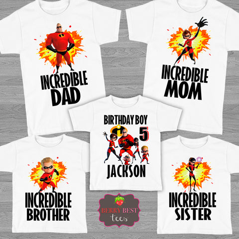 Incredibles Personalized Birthday Shirt