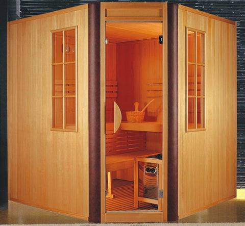 Corner Traditional Sauna 4 Person