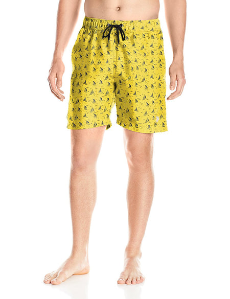 U.S. Polo Assn. Men's Peached Microfiber Swim Short, 4583-Cape Yellow, Large