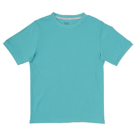 French Toast Little Boy's 2x2 Rib Tee, Drift Turquoise, 6