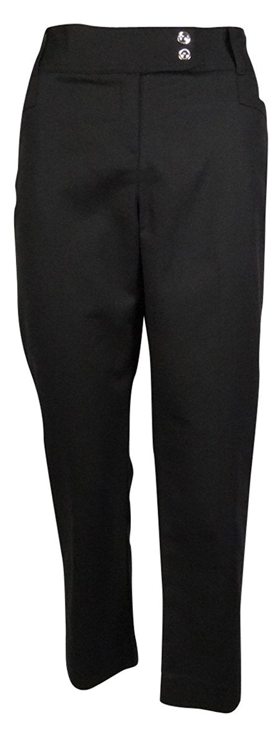 Style & Co. Women's Straight-leg Ankle Length Pants, Black, 4 Petite