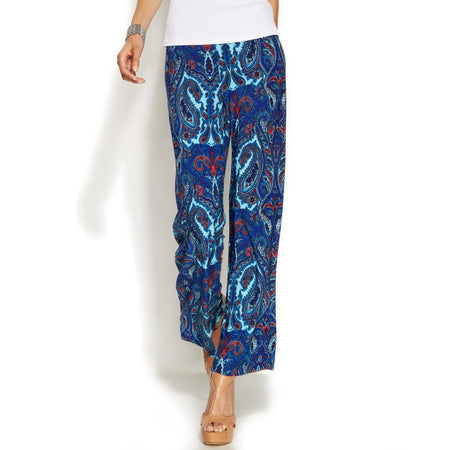 Inc International Concepts Printed Wide-Leg Soft Pants, Finest Paisley, M - U.S. Retail Products