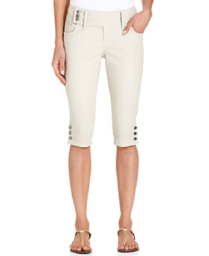 Style & Co. Petite Twill Bermuda Shorts, Bright White, 12P