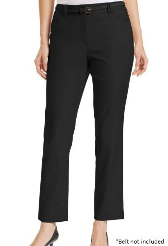 Charter Club Slim-fit Ankle Pants, Deep Black, Size 8