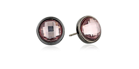 Round Purple Stud Earrings - U.S. Retail Products