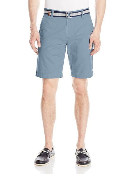 U.S. Polo Assn. Men's Flat Front Chambray Short, 2255-Blue Driggs, 36