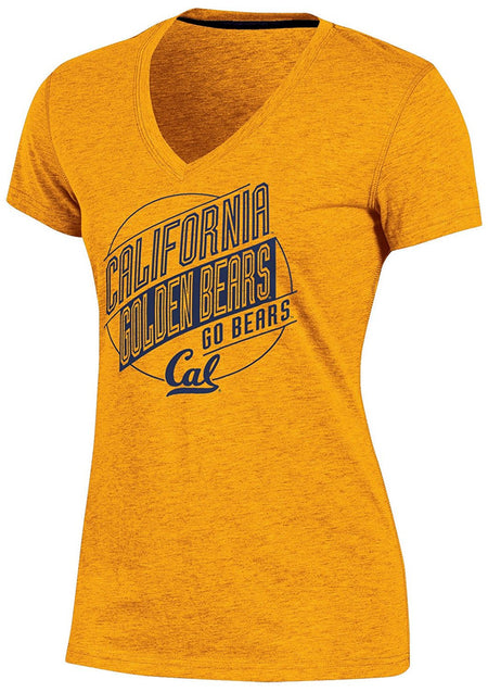 NCAA California Golden Bears Women's Poly+ V-Neck T-Shirt, Gold, Large (11/13) - U.S. Retail Products
