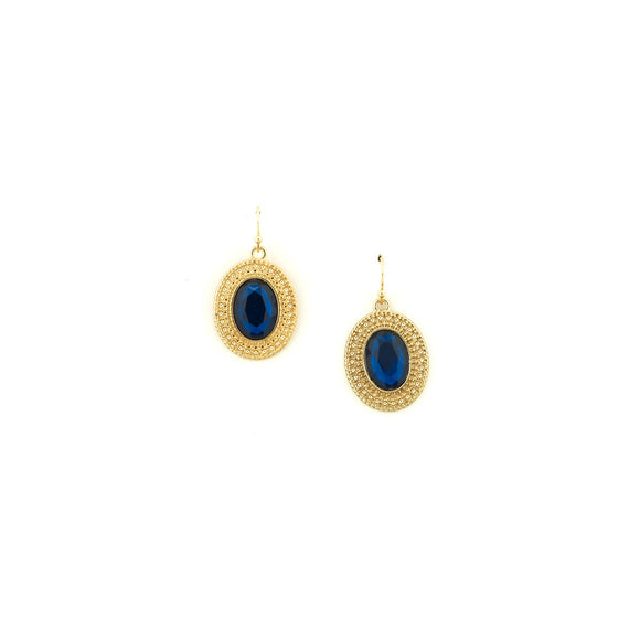 Freedom Nickel Free Blue Stone Accent Earrings