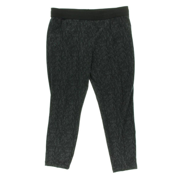 Style & Co. Printed Ponte Knit Pintuck Pant, Timeless Tweed, XL