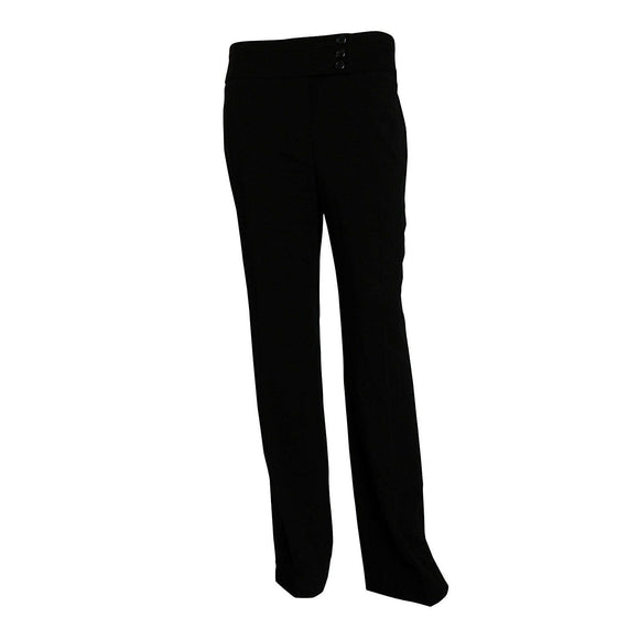 Alfani Solid Women's Straight Leg Curvy Fit Dress Pants, Black, Size 2