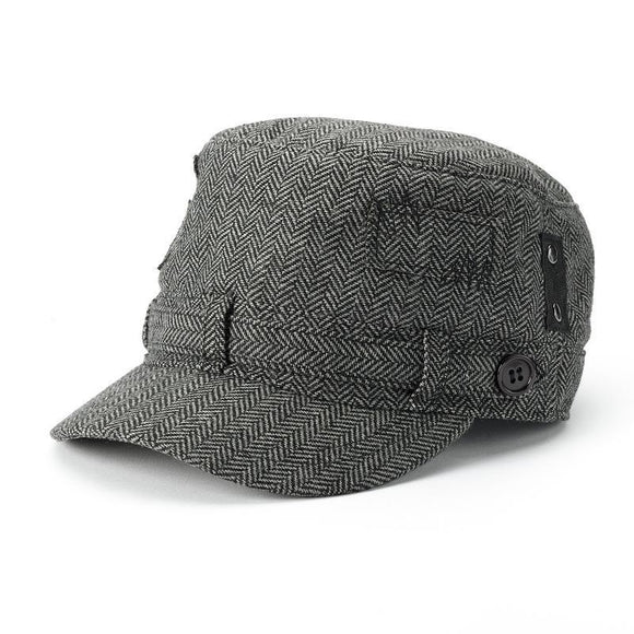Sonoma Goods for Life Button Herringbone Cadet Hat, Gray