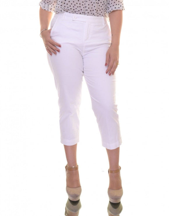 Style & Co. Women's Straight-fit Capri Pants, Bright White, Size 10