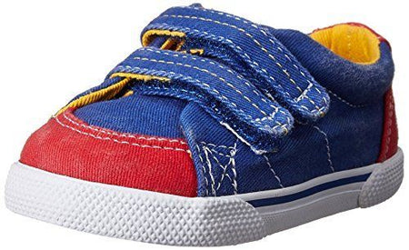 Sperry Top-Sider Halyard Crib H&L Boat Shoe (Infant),Blue/Red,3 M US Infant