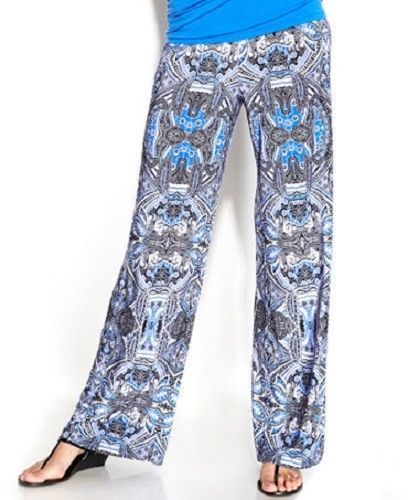 Inc International Concepts Printed Wide-leg Soft Pants Finest Paisley, XS - U.S. Retail Products
