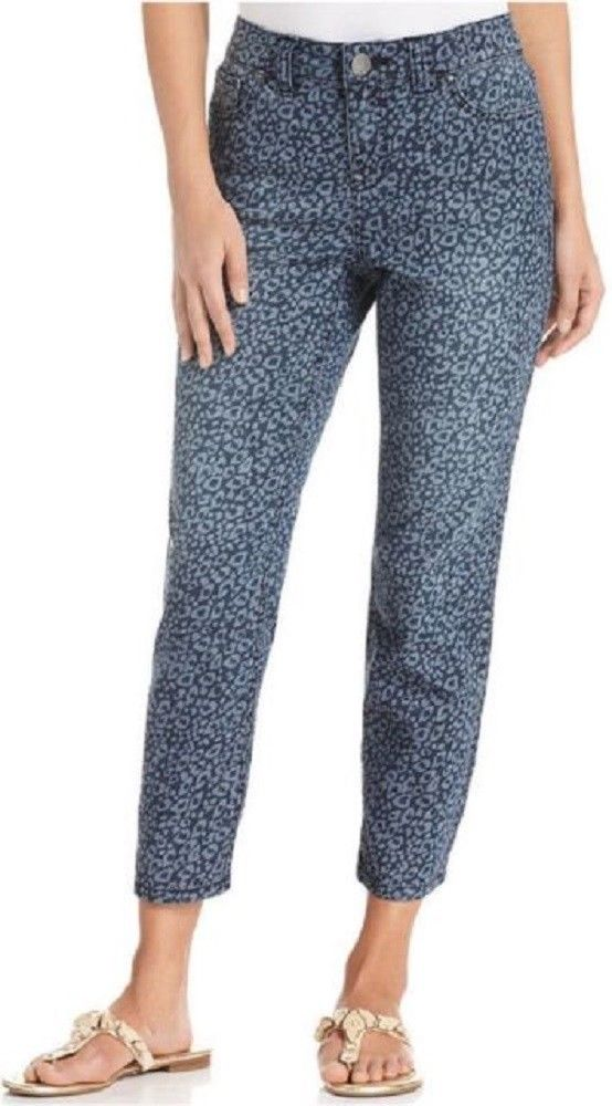 Style & Company Women's Petite Jeans, Straight-Fit Capri, Kitty Blues Print, 12P