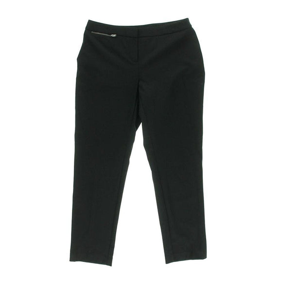 Ellen Tracy Pants, Skinny Trousers, Black, Size 4