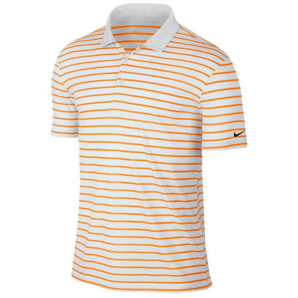Nike Men's Golf Icon Stripe Polo, Vivid Orange, Medium