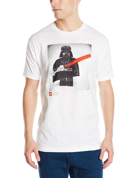 Star Wars Men's Vader T-Shirt, White, Large