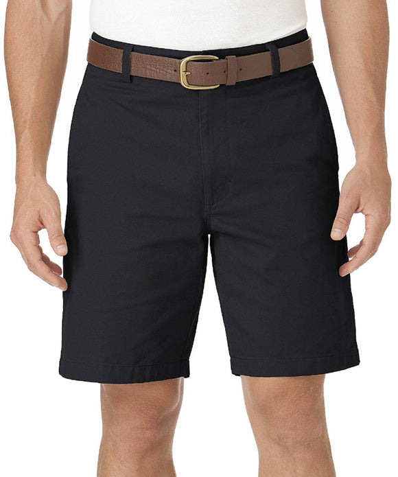 Chaps Men's Big & Tall Washed Twill Chino Flat Front Shorts (50B, Navy)