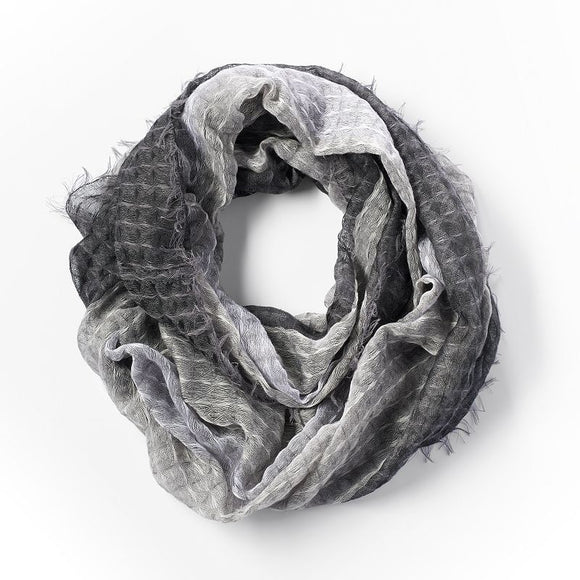 Simply Vera Vera Wang Abstract Infinity Scarf, Black
