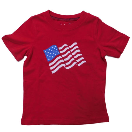 Jumping Beans Infant Boys Patriotic US Flag T-Shirt, Red, 18 Months - U.S. Retail Products