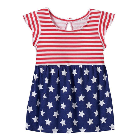 Baby Girl Jumping Beans Patriotic Print Tunic, Red/White/Blue, 24 Months - U.S. Retail Products