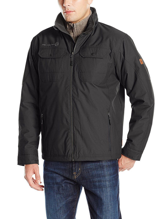 Free Country Men's Canvas Utility Coat, Black, Small