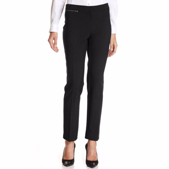 Ellen Tracy Pants, Skinny Trousers, Navy, Size 4