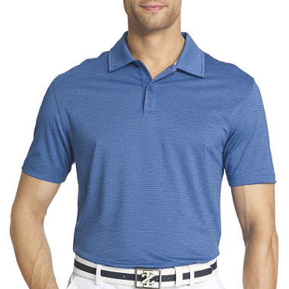 IZOD Short-Sleeve Golf Stretch Polo, Delft (Blue), Small