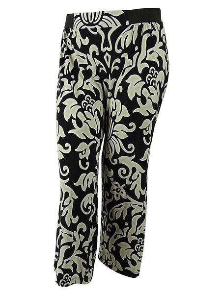 INC International Concepts Elastic Waistband Pants, Dream Lady, P/M (6P-8P) - U.S. Retail Products