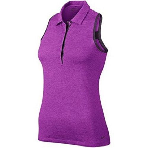 Nike Victory Sleeveless Golf Polo Women's Team, Vivid Purple, Small