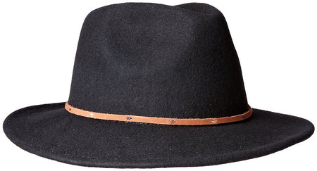 San Diego Hat Co. Men's Pinched Crown Fedora with Stitched Pattern, Black, One S