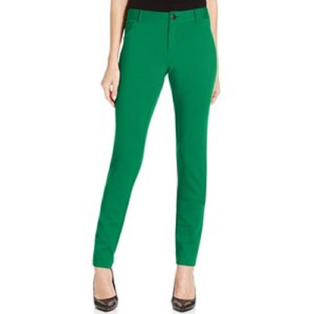 Inc International Concepts Pants, Curvy-fit Skinny Ponte-Knit, Green Envy, 8 - U.S. Retail Products