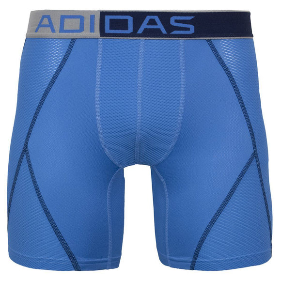 Adidas Men's Climacool Mesh Boxer Brief Underwear, Lucky Blue/Ash Blue, Small