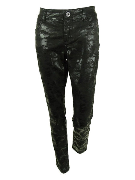 Inc International Concepts Coated Camouflage Print Skinny Pants, Black, Size 6 - U.S. Retail Products