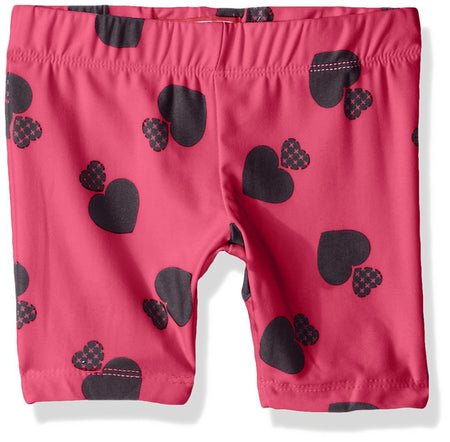 Dream Star Little Girls' Peached Bike Shorts, Sand Pink Hearts, Large (6X) - U.S. Retail Products