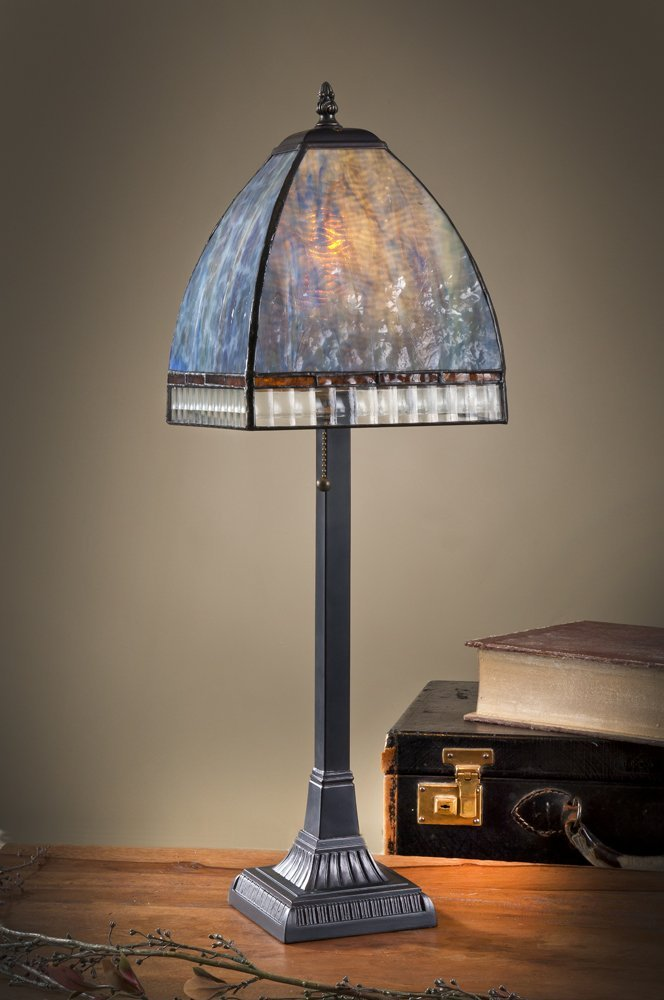 Monet Curved Mission Table Lamp