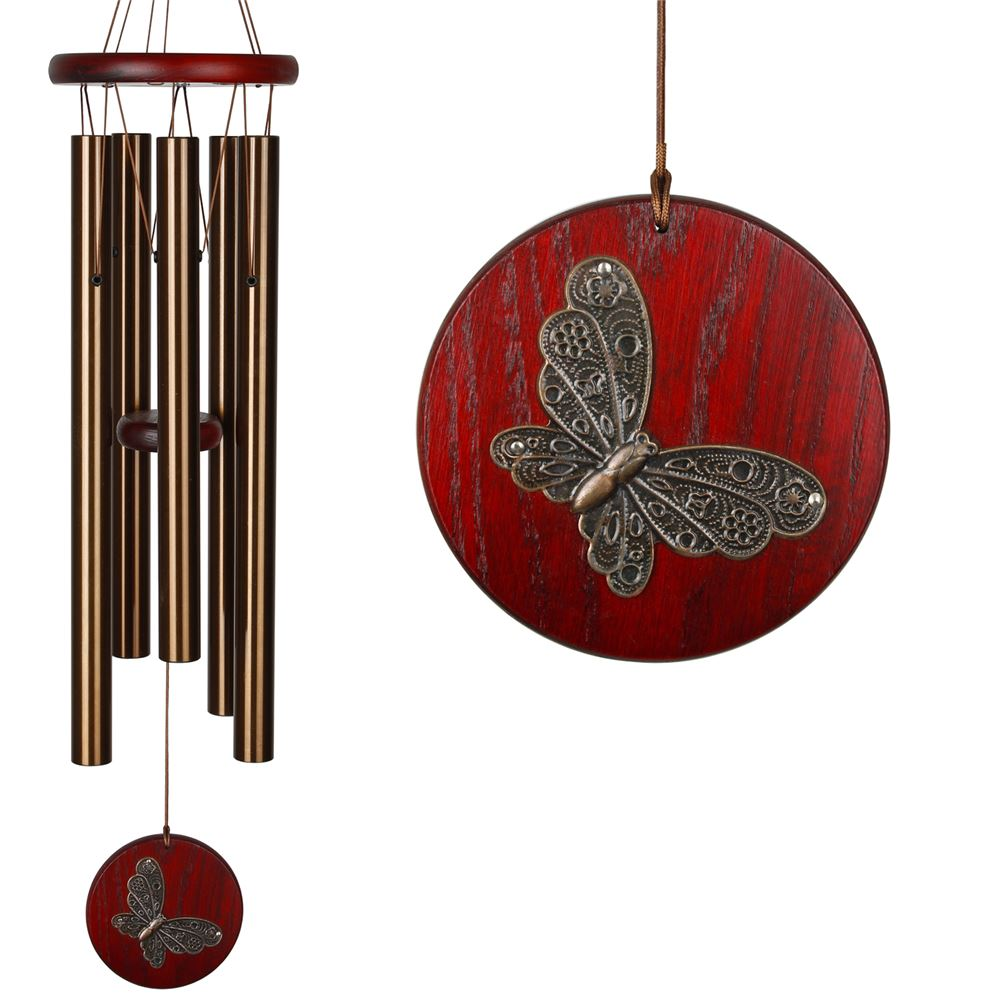 Bronze Butterfly Chimes